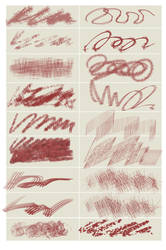 Chaotic painting brushes