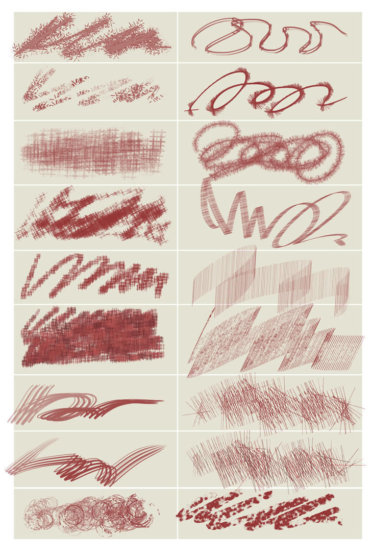 Chaotic painting brushes by martinacecilia