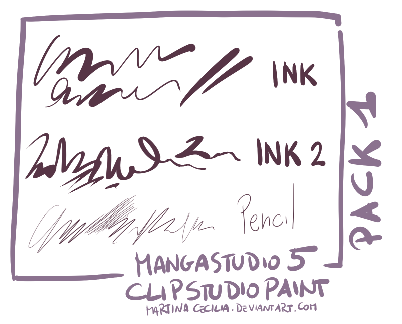 MangaStudio 5 - clip studio paint - brushes pack1