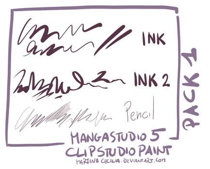 MangaStudio 5 - clip studio paint - brushes pack1