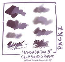 MangaStudio 5 - clip studio paint - brushes pack2