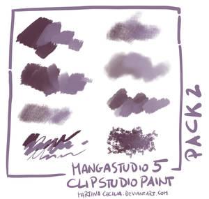 MangaStudio 5 - clip studio paint - brushes pack2