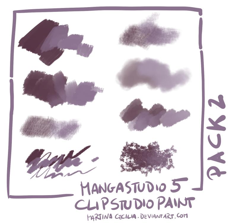 MangaStudio 5 - clip studio paint - brushes pack2 by martinacecilia