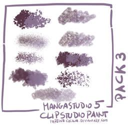 MangaStudio 5 - clip studio paint - brushes pack3