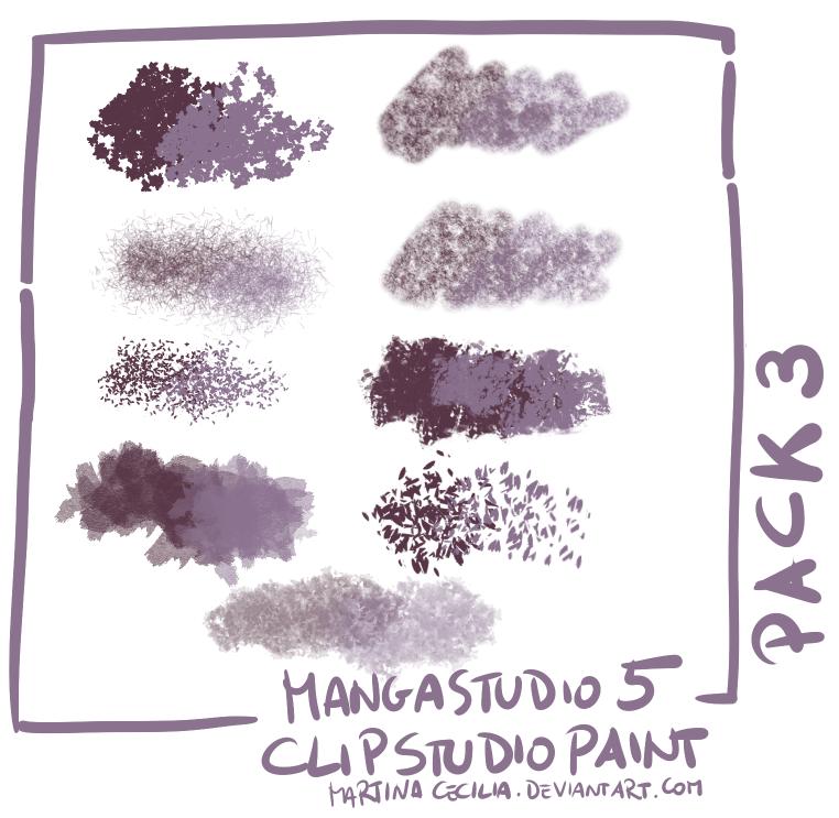 MangaStudio 5 - clip studio paint - brushes pack3 by martinacecilia