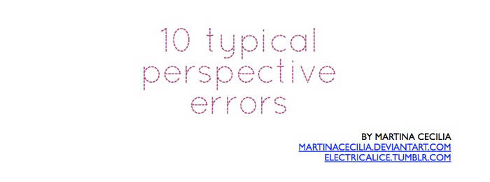 10 typical perspective errors - pdf tutorial