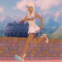 hue shift of Ghibli's anime made in Analog era