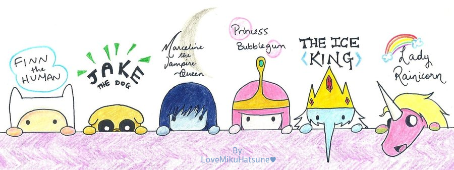 Anime Adventure Time Character Sketches by LoveMikuHatsune ...