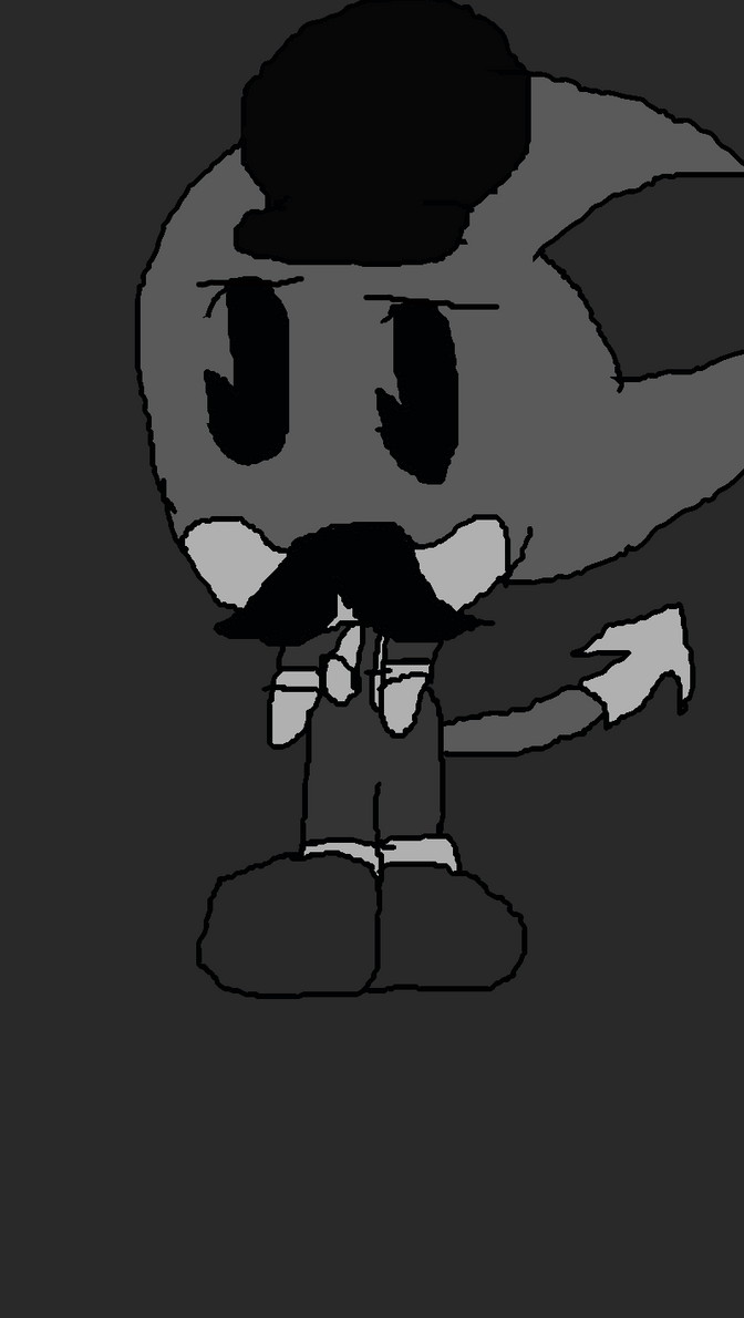 Black and White Chibi Ragnor Mustache now by TjTheHedgiePlz