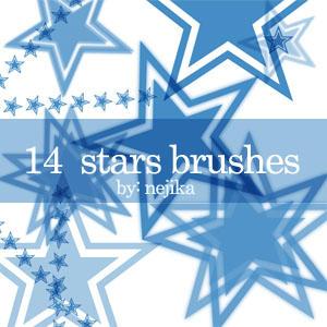 Stars brushes by nejika
