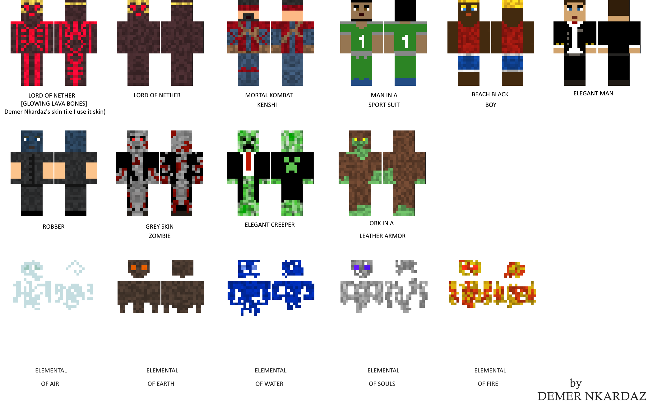 MINECRAFT] My created skins for minecraft in 10 by Demer-Nkardaz