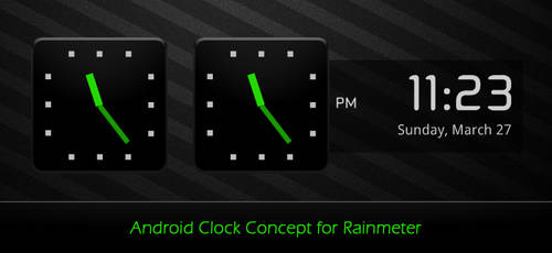 Android Clock Concept by unrealfate
