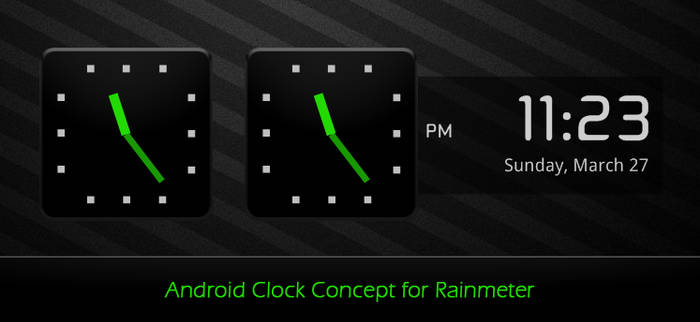 Android Clock Concept