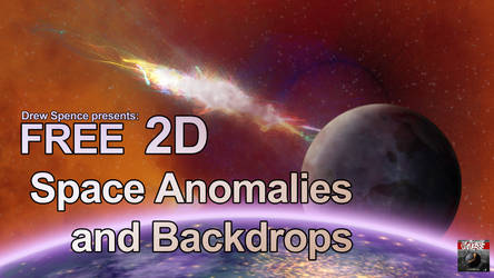 2D Space Anomalies and Backdrops FREE SAMPLER