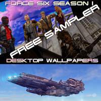 FREE Force Six Season I Wallpaper Sampler