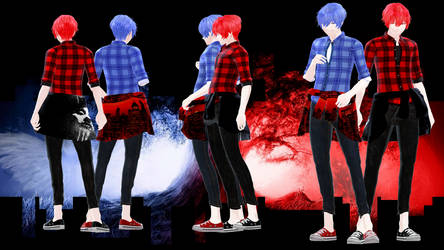 TDA Stroll Kaito and Akaito [DOWNLOAD] by NEPHNASHINE-P