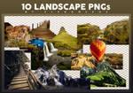10 Landscape PNGs