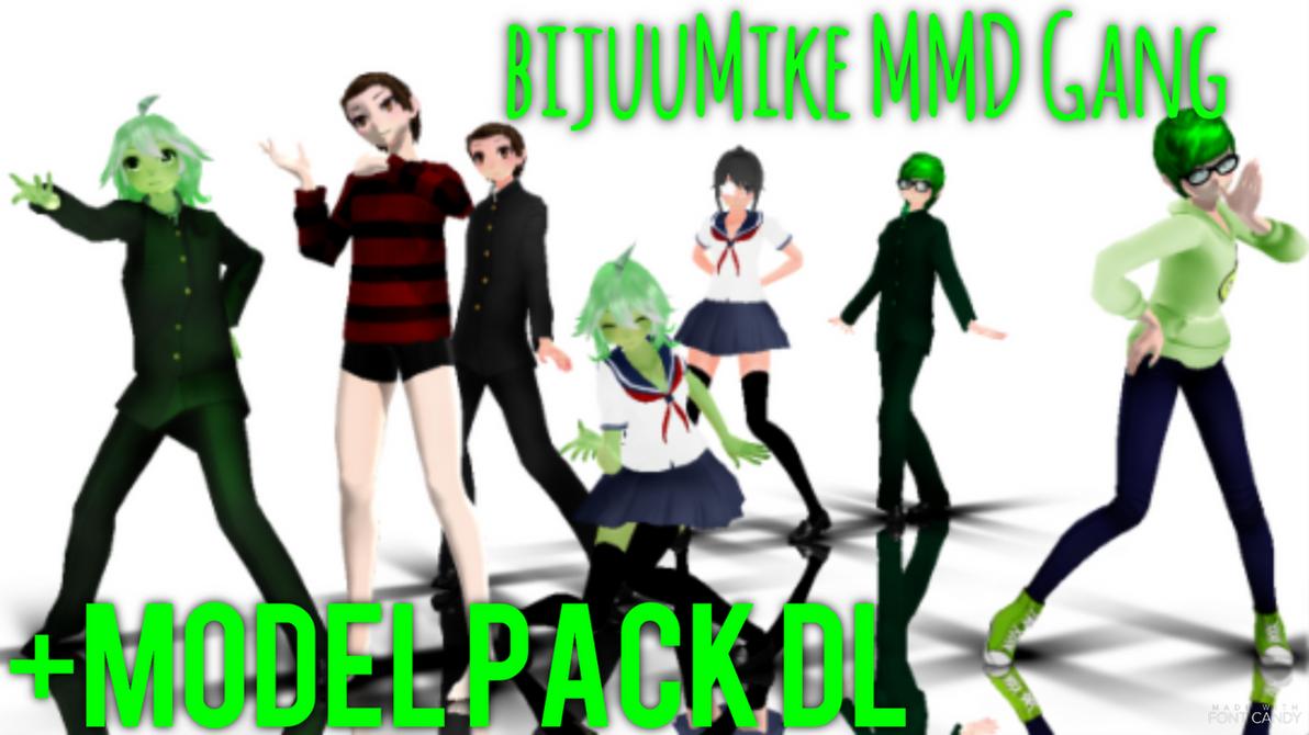 [MMD] BijuuMike Gang {Model Pack DL} by Alex-MMD-Studios
