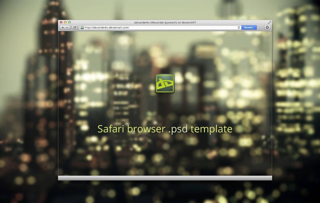 Safari Browser Psd Template By Alexanderkx On Deviantart