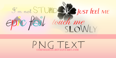 PNG text by Cornelie20