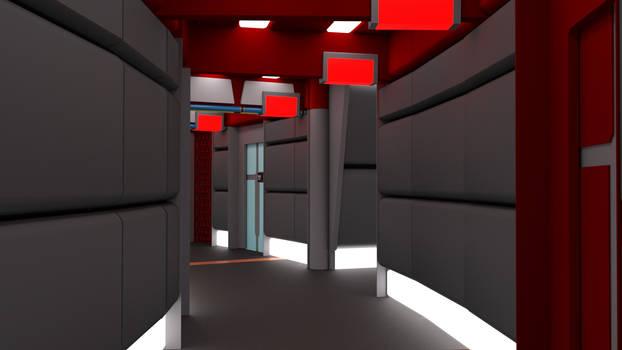Throwback Corridor Red Alert Animation