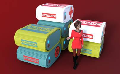 TB Cargo Containters - OBJ