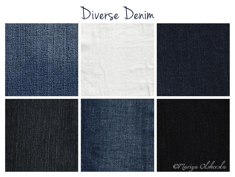 Diverse Denim Textures by mariyaolshevska