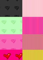 hearts and stripes patterns by MandaShitley