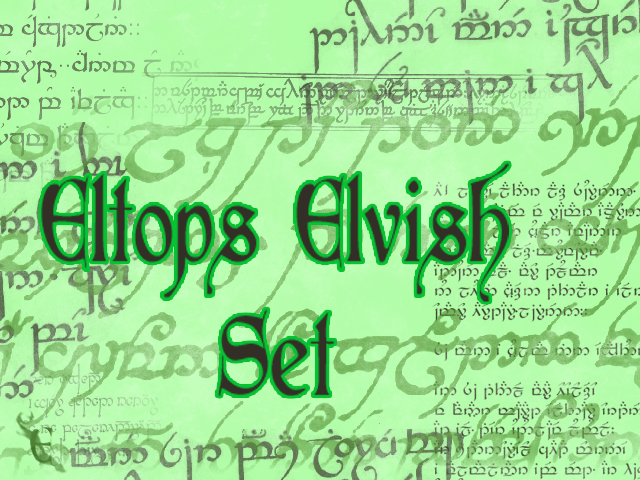 Eltops Elvish Set by Woseseltops