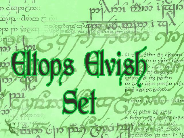 Eltops Elvish Set by Woseseltops