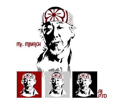 Mr. Miyagi Vector by RussianPunx