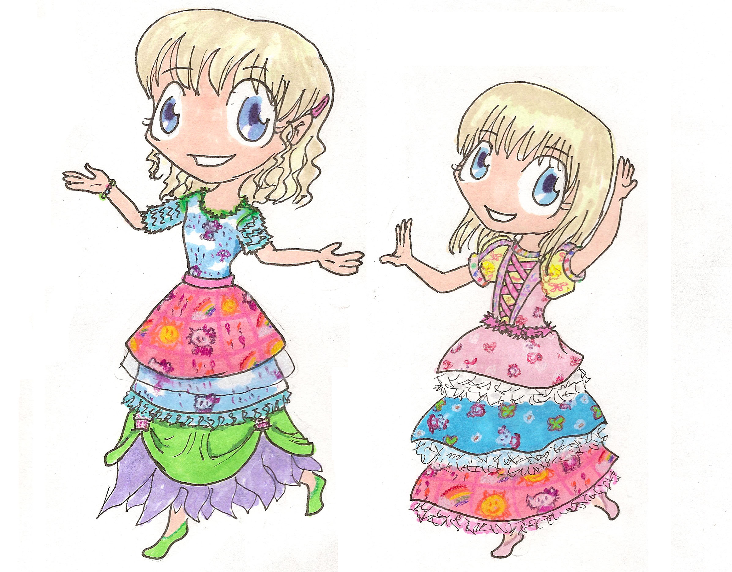 Hello Kitty Princesses by Ani-Meg