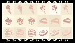 Kawaii Custom Brushes: Sweets [FREE] by Nukababe
