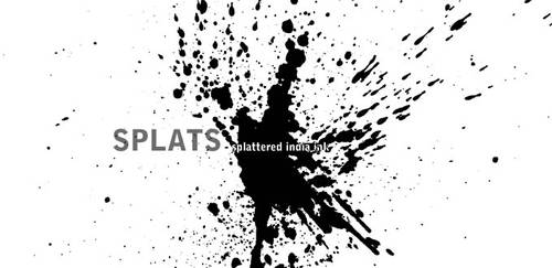 Splat - splattered india ink by halo-monk