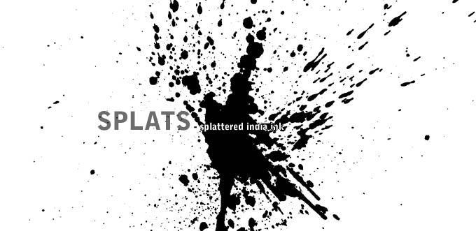 Splat - splattered india ink