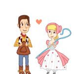 Woody and little bo peep by Ji11Valentine01