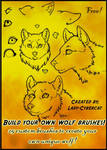 Wolf Clipart Photoshop Brushes