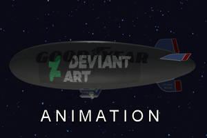 Deviant Art Logo on the Goodyear Blimp