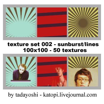 Textures 002: Sunburst n lines by SuperMusicMaker