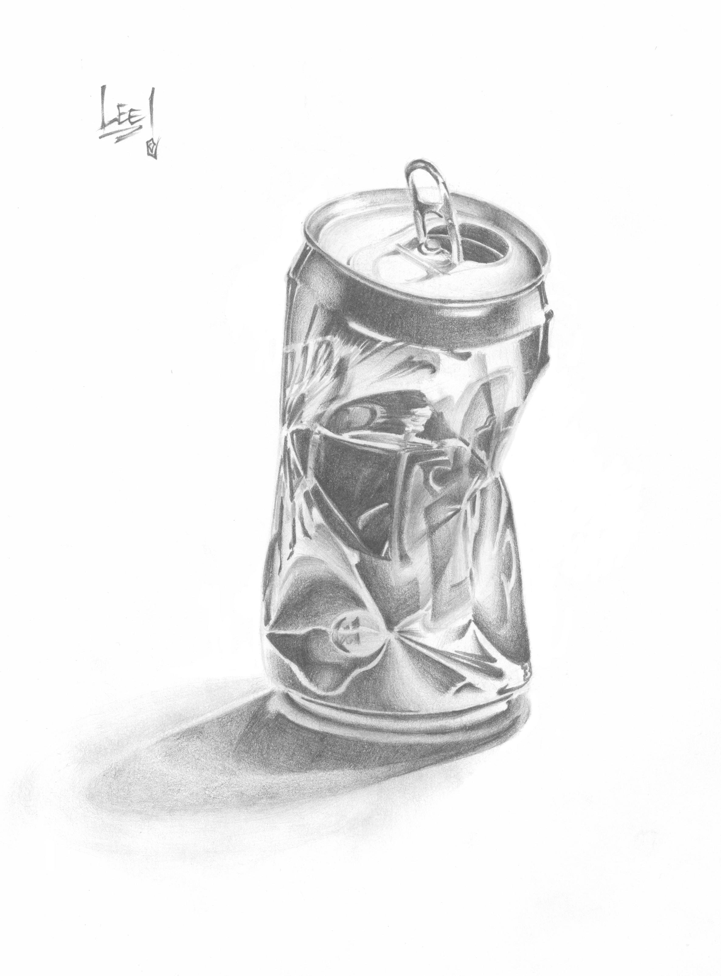 crushed can clipart. crushed pop can by 82esoteric84 clipart c