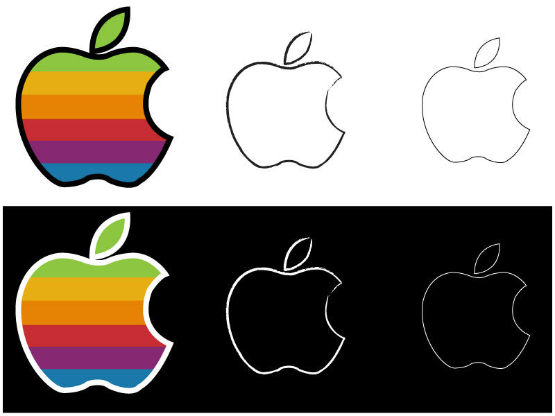 official apple logo vector. apple logo vector by ooredroxoo official
