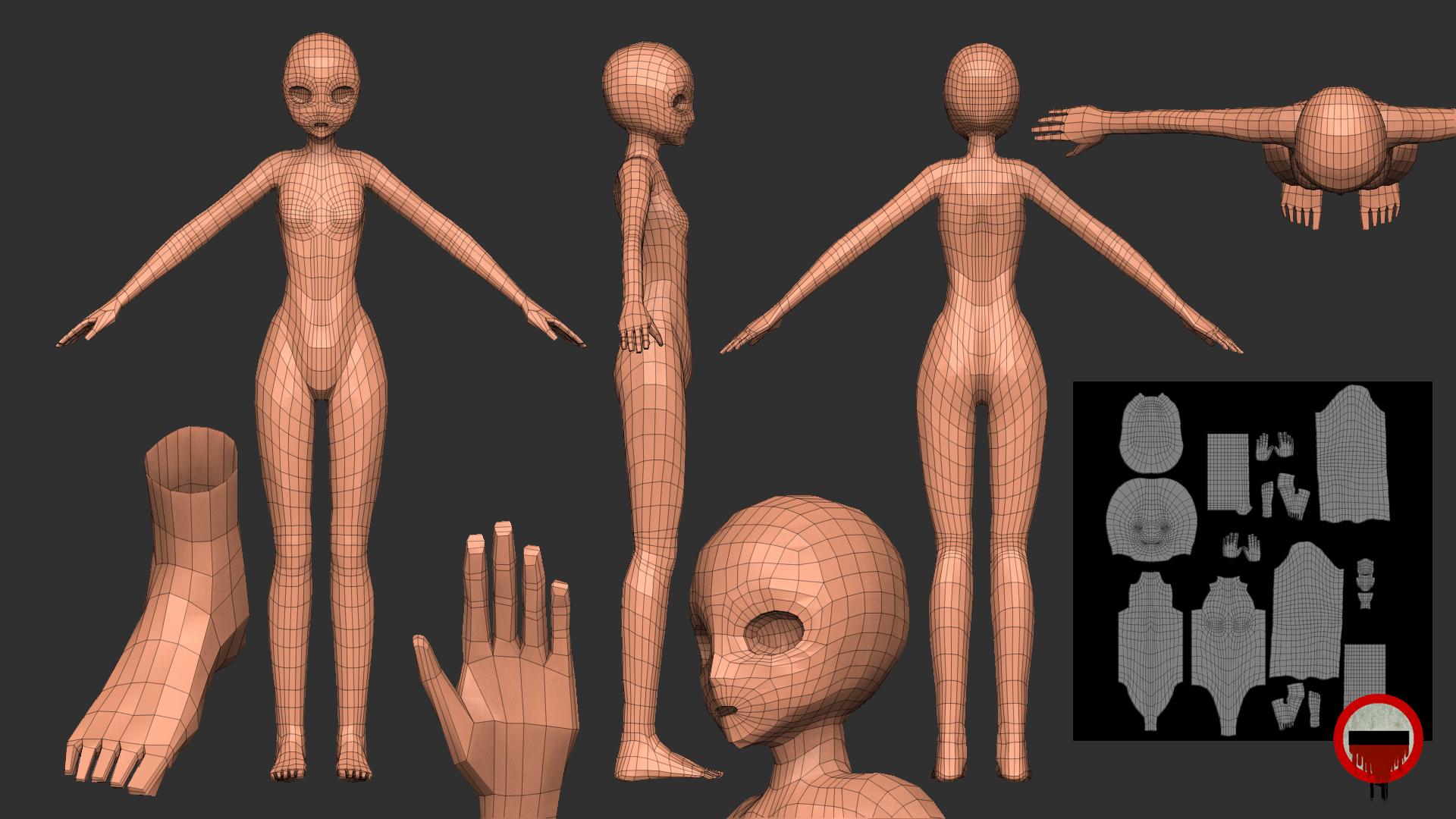 body texture 3d - HD1920×1080