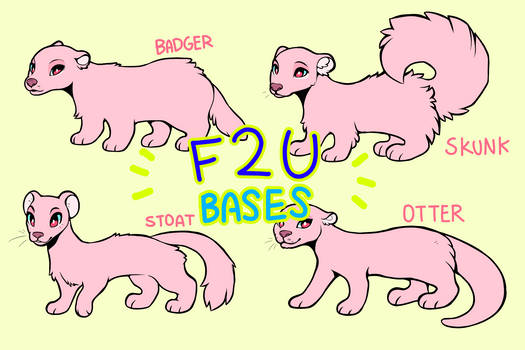 Mustelid Lineart Pack [FREE]