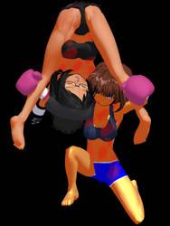 Cara Defeats Naomi With Kinniku Buster by Shonic-Hollow