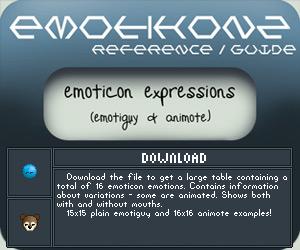 Gyd: Emote Expressions Table by Emotikonz