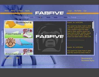 Fab Five - Flash Interface by vinkrins