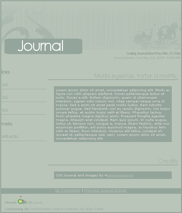 dA Love Journal by BewareGravityCSS