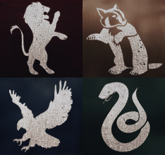 Hogwarts Houses Icons by floresbrillantes