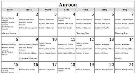 Ambaran Calendar and Seasons/Holidays by MamaLantiis