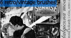 Retro vintage brushes by Oamazing